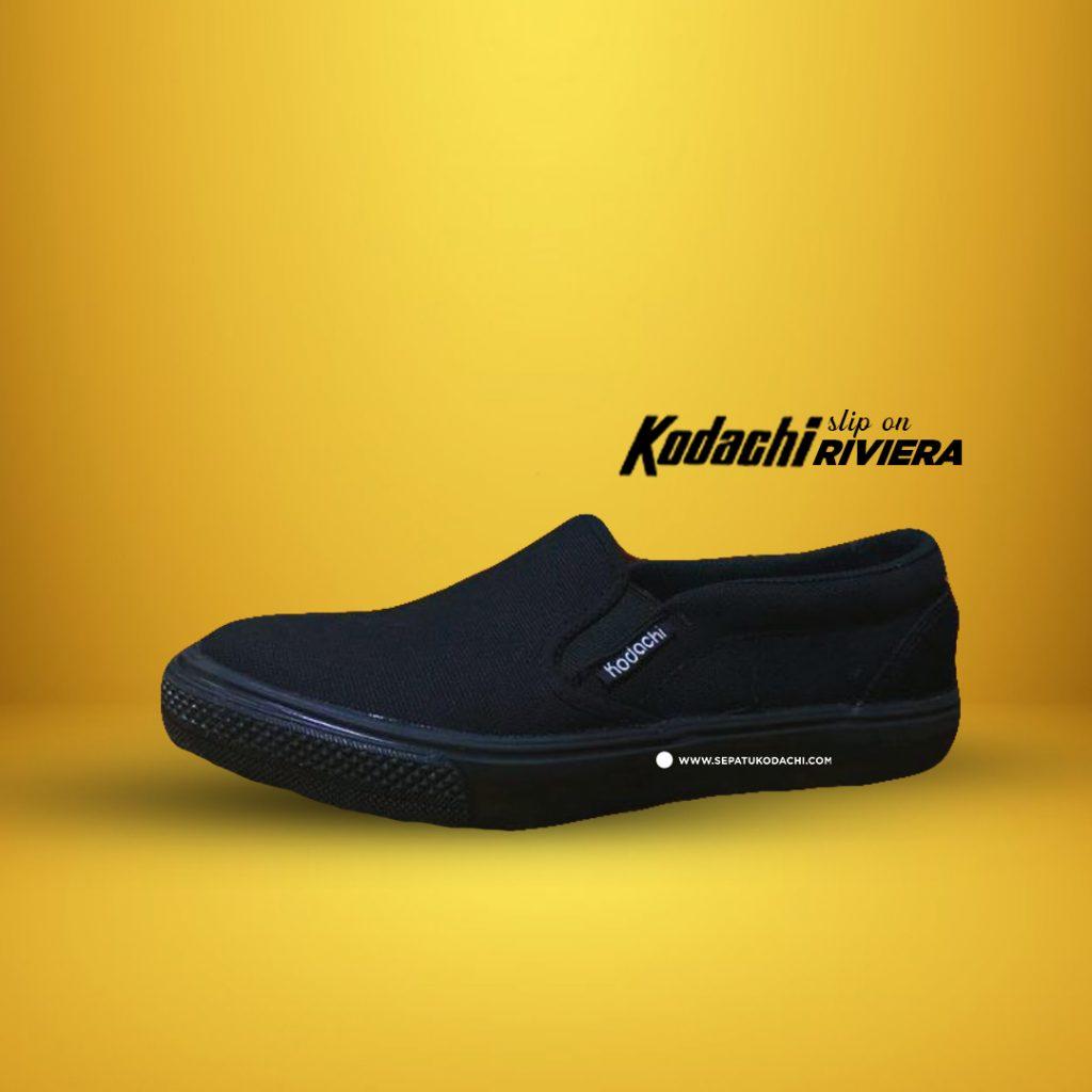 kodachi-slipon-riviera-all-black-full-hitam-ykraya-sepatu-capung-1
