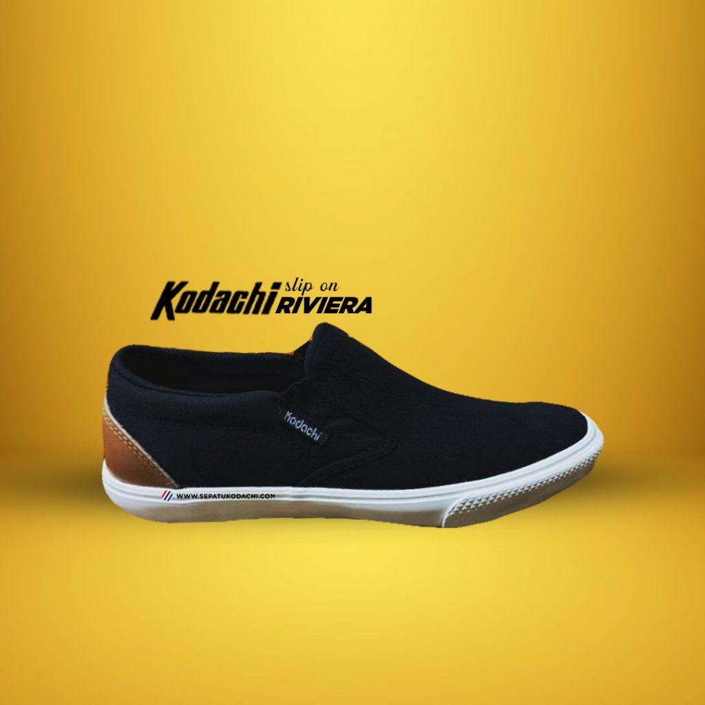 kodachi-slipon-riviera-black-white hitam-putih ykraya-sepatu-capung-1