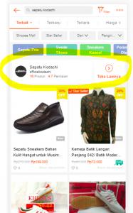 hasil pencarian toko sepatu kodachi shopee