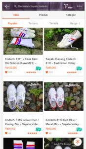 produk sepatu kodachi di shopee