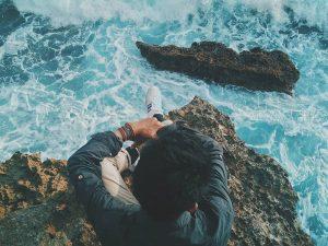 The edge of the ocean blue (Sepatu Kodachi 8111) @asap_vespa