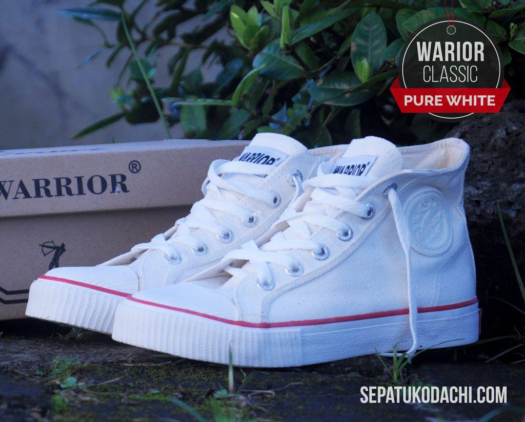 Sepatu warrior putih HC