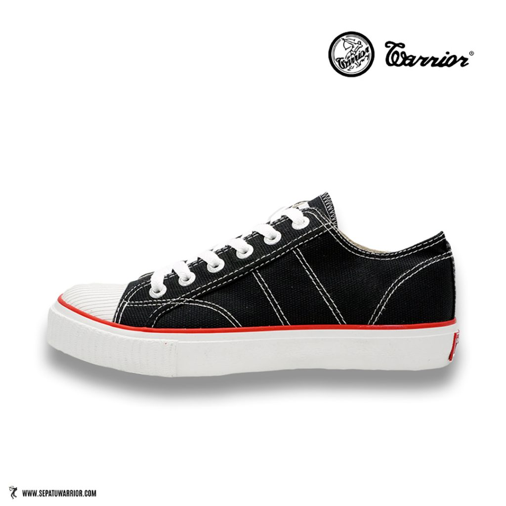 Sepatu-Warrior-classic-lc-low-hitam-putih-black-white