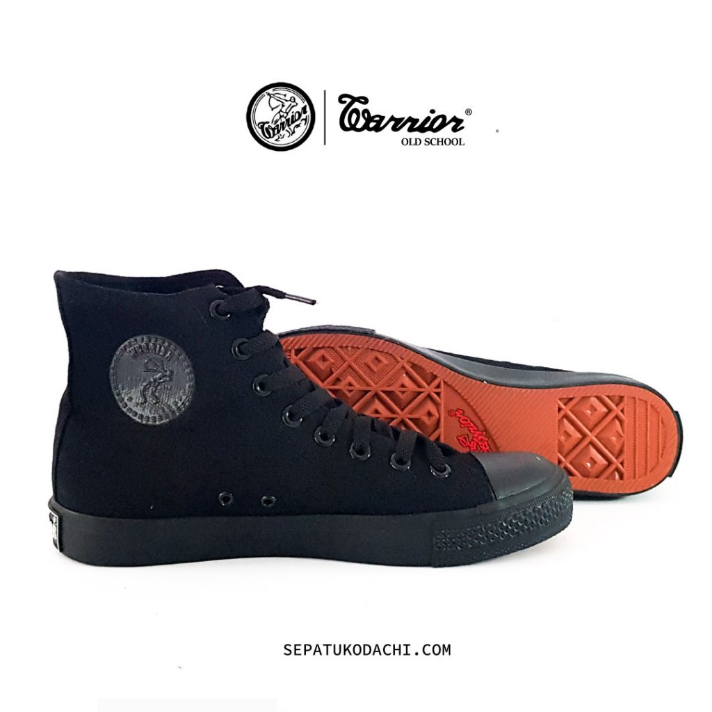 Sepatu Warrior Sparta Full Black High 1