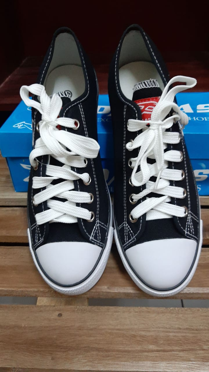 sepatu sekolah dallas campus hitam putih low