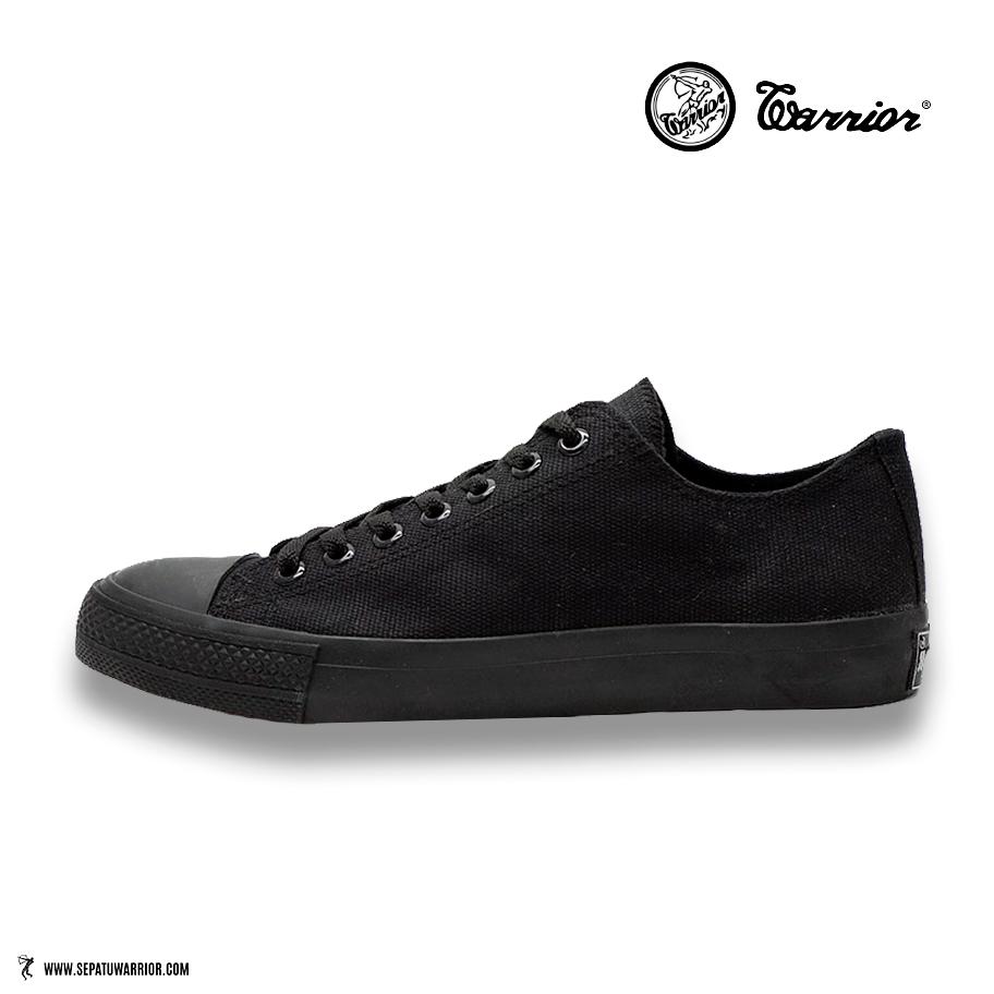 Sepatu-Warrior-Sparta-Low-all-black-full-hitam