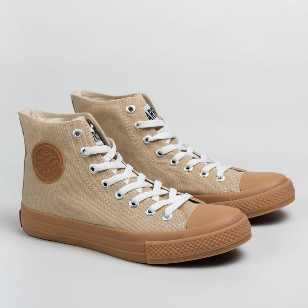 sepatu WARRIOR-NEO-SPARTA-high Cream-GUM-1