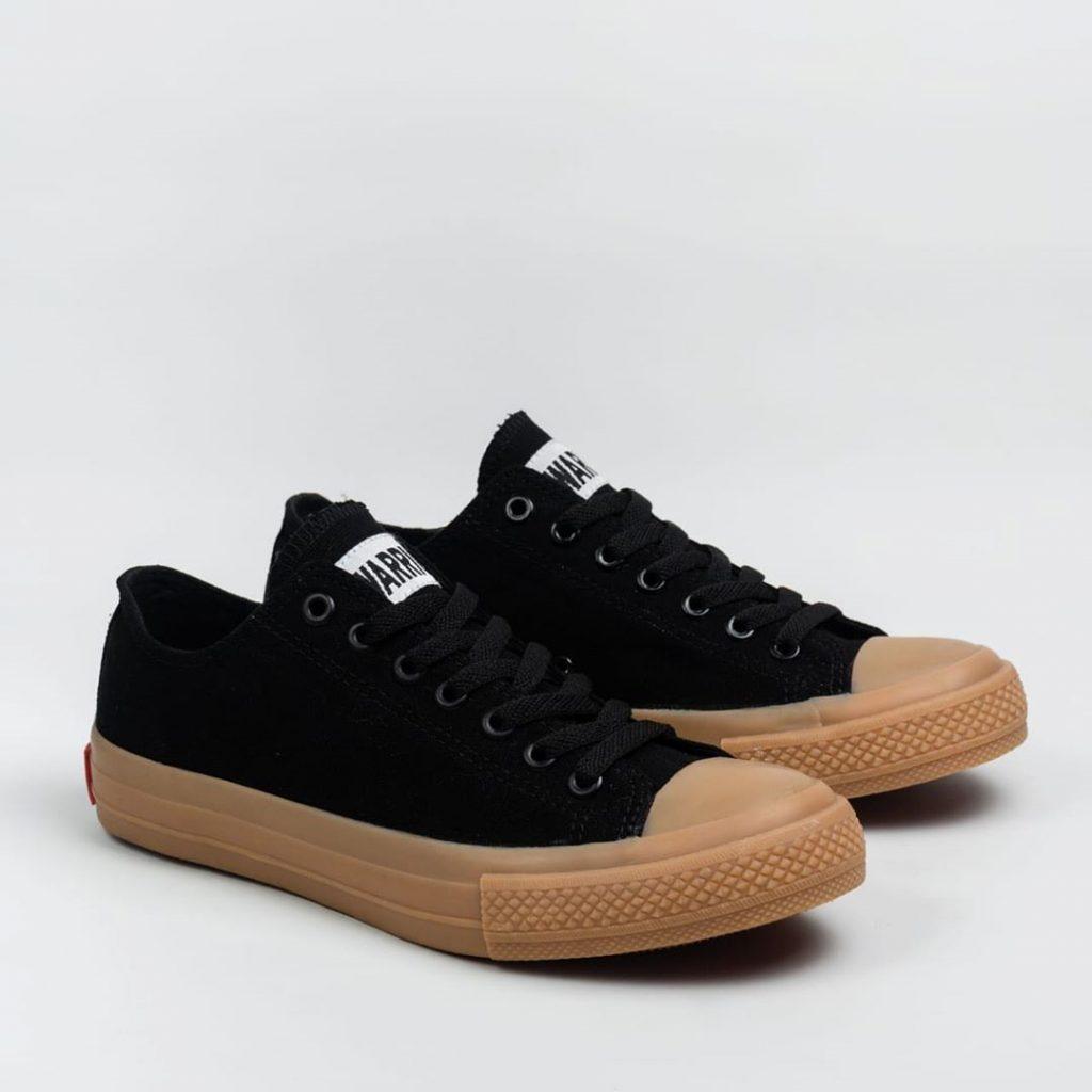 sepatu WARRIOR-NEO-SPARTA-llow-lc-hitam-black-GUM-1