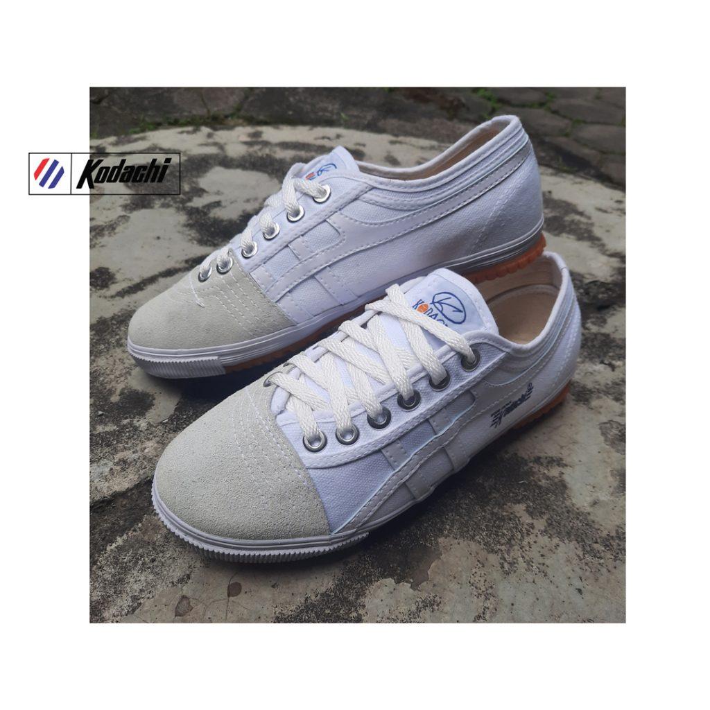 Sepatu-Kodachi-8172-All-White-Sepatu-capung-lokal-ykraya-badminton-running-volly-4